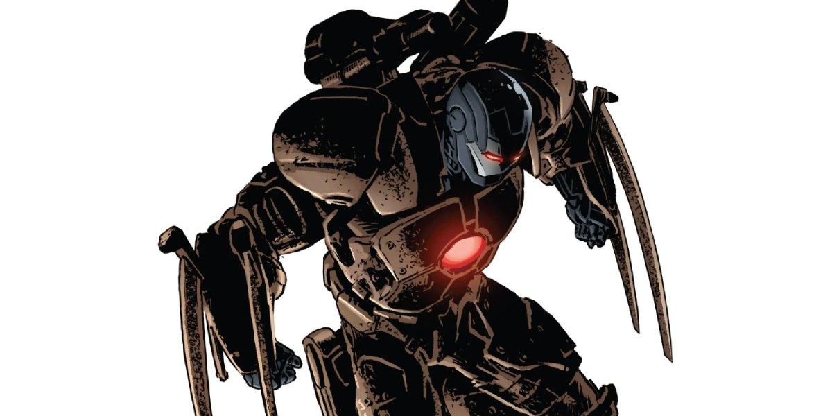Iron Man in his Cold Iron Armor suit