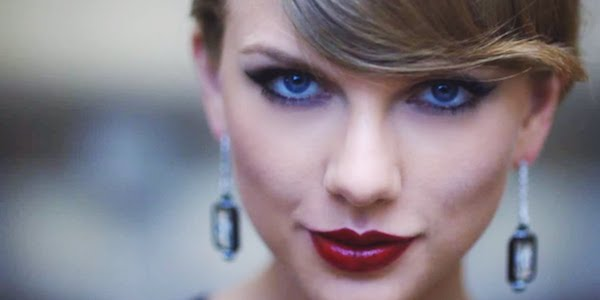 Taylor Swift Blank Space music video close up of face