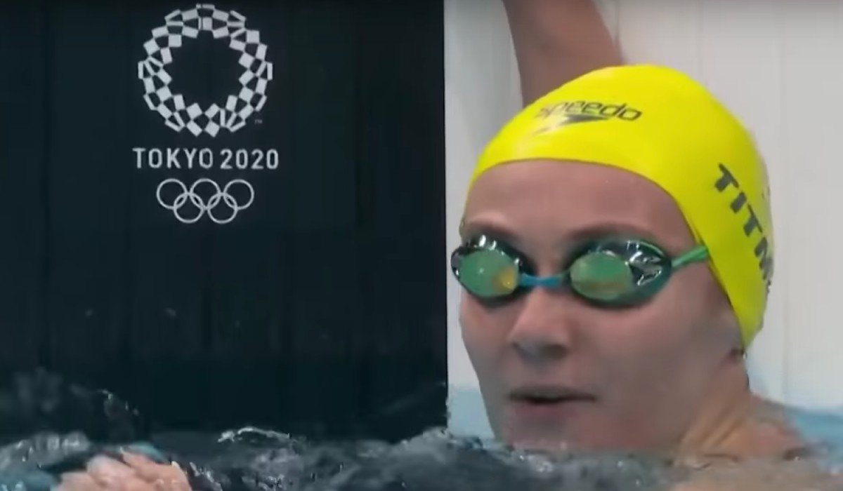 Ariarne Titmus at the Tokyo Olympics