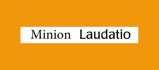 Minion and Poppl-Laudatio font pairing