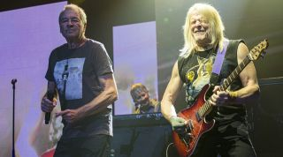 (from left) Ian Gillan, Don Airey and Steve Morse of Deep Purple perform on stage at Pechanga Casino on September 06, 2019 in Temecula, California
