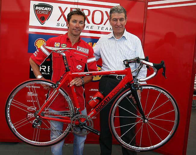 Troy Baylisss Ducati Bianchi Cycling Weekly