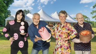 Noel Fielding, Paul Hollywood, Prue Leith and Matt Lucas in The Great British Bake Off