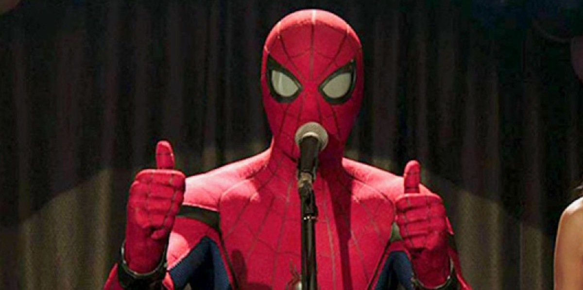 spider man thumbs up