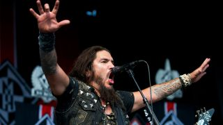 Machine Head frontman Robb Flynn at Dallas Rockstar Energy Mayhem Festival, 2013