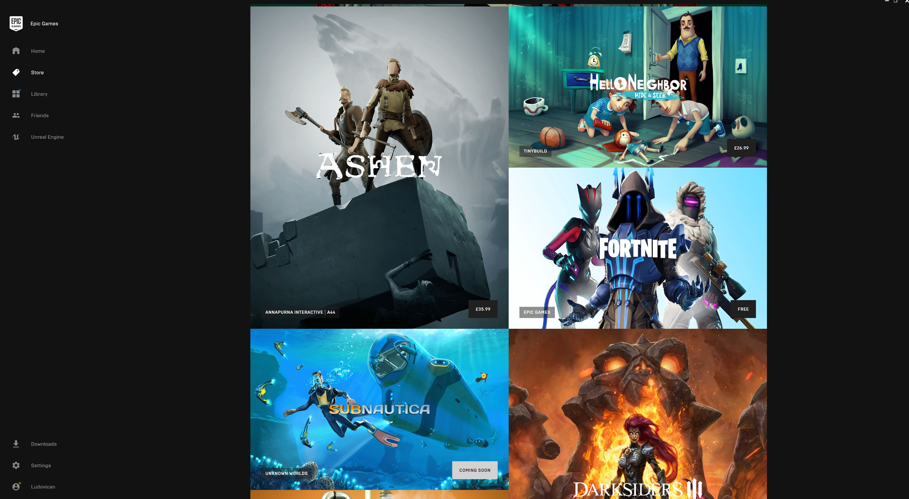 40 percent of Epic Games Store users say they don't have
