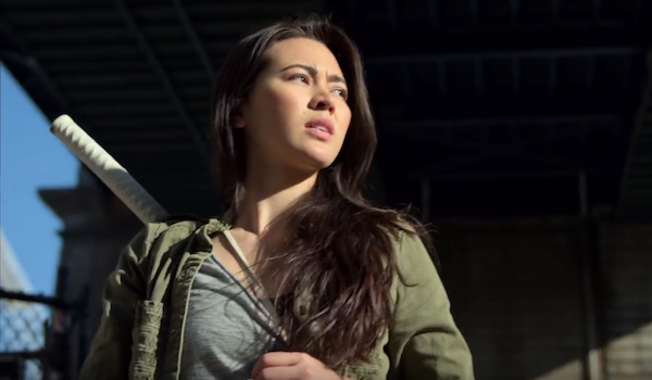 Colleen Wing with sword on iron fist