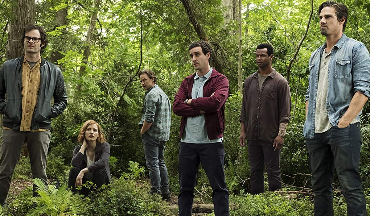 IT Chapter Two The Losers Club standing together in the woods