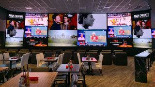 Agua Caliente Casino Resort Spa in Rancho Mirage, CA recently installed 2,300 square feet of LED displays in its 360 Sports bar and restaurant.