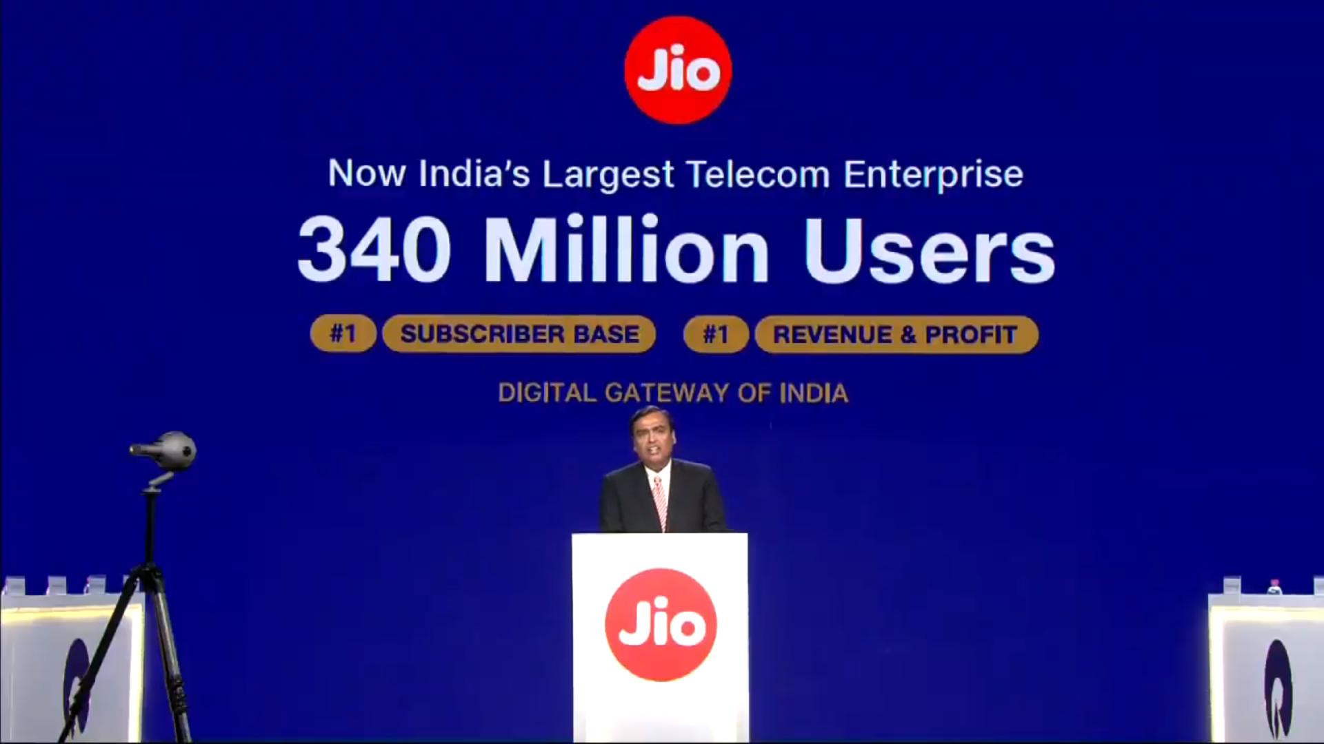 Reliance Jio Glasfaser mit Breitband-Geschwindigkeiten von bis zu 1Gbit / s kommerziell verfügbar vom 5. September durch Indien