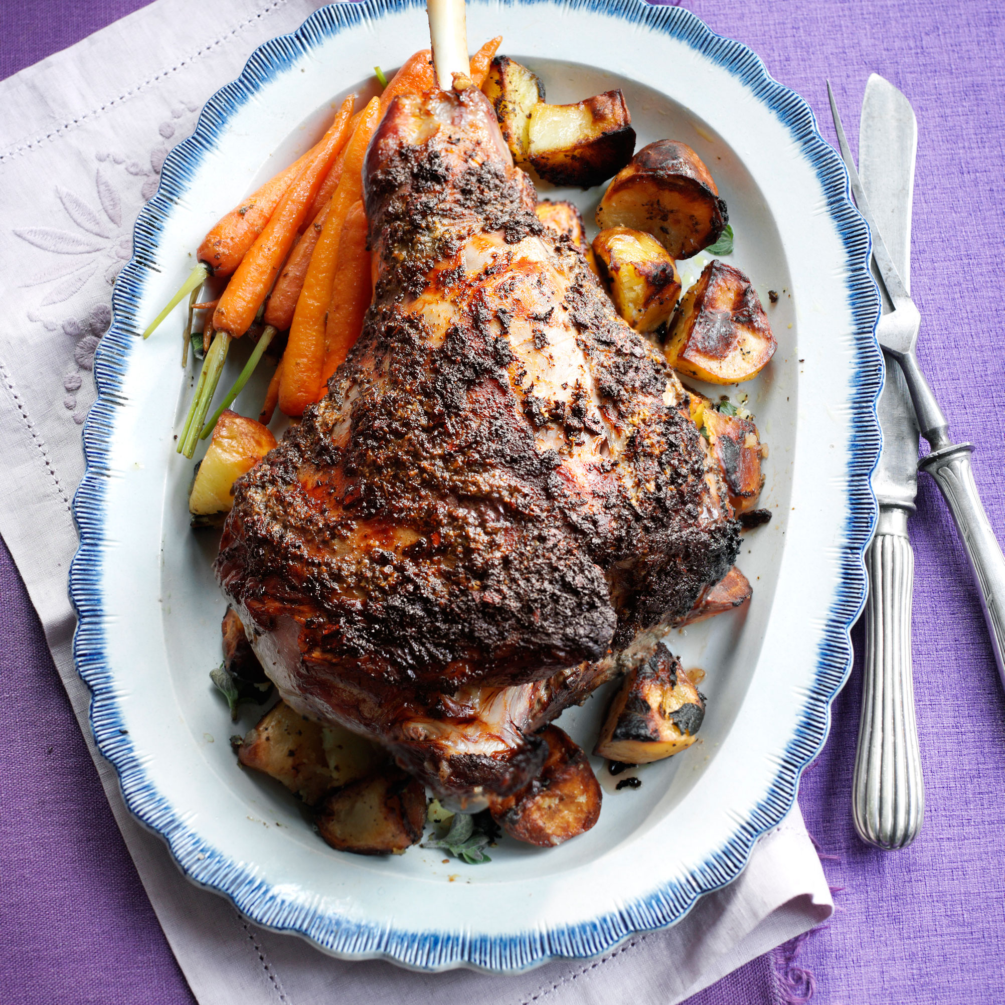 recipe: greek roast lamb [19]