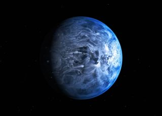 Blue Exoplanet HD 189733b: Artist's Illustration