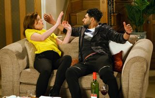 Leanne fights off Zeedan when he drunkenly makes a pass at her!