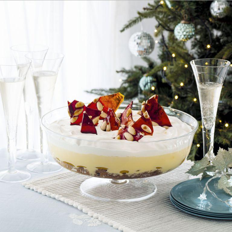 Photo of Peach panettone trifle