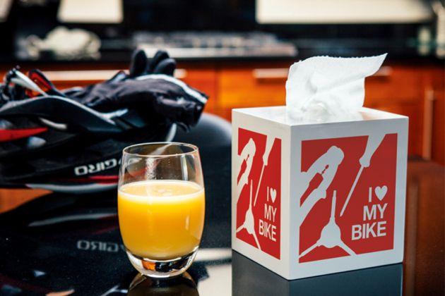 Tissue box cold orange juice edit