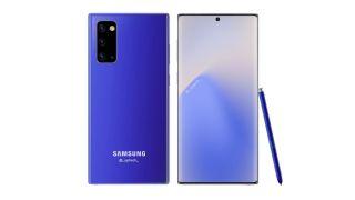 Diseño supuestamente filtrado del Samsung Galaxy Note 20