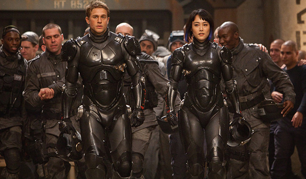 Charlie Hunnam and company in Pacific Rim