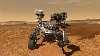Mars Perseverance - mission steps.