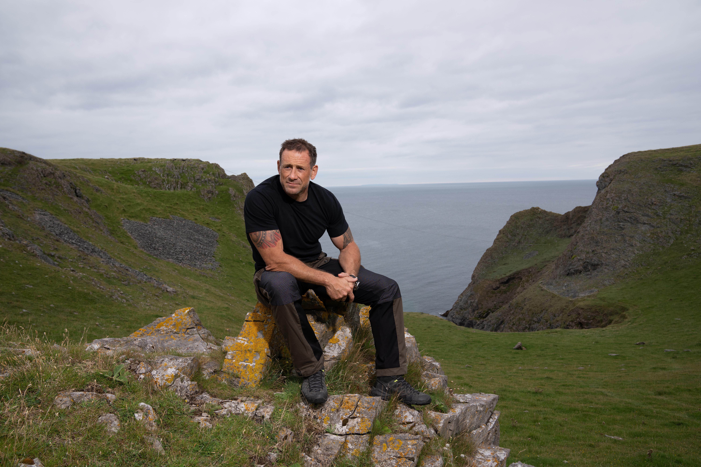 Jason Fox, aka Foxy, by the Welsh coast.