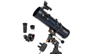 Celestron's AstroMaster 130EQ Newtonian Telescope is 30% off and a major telescope deal for Amazon Prime Day.