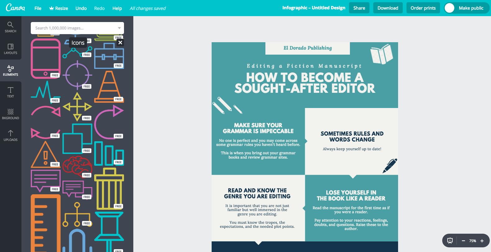 Infographics tools: Canva