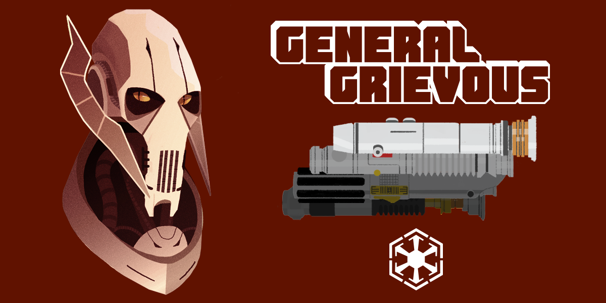 General Grievous and his lightsaber statistics