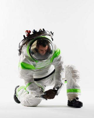 A new spacesuit prototype from NASA.