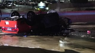Car crash scene witnessed by Blackberry Smoke