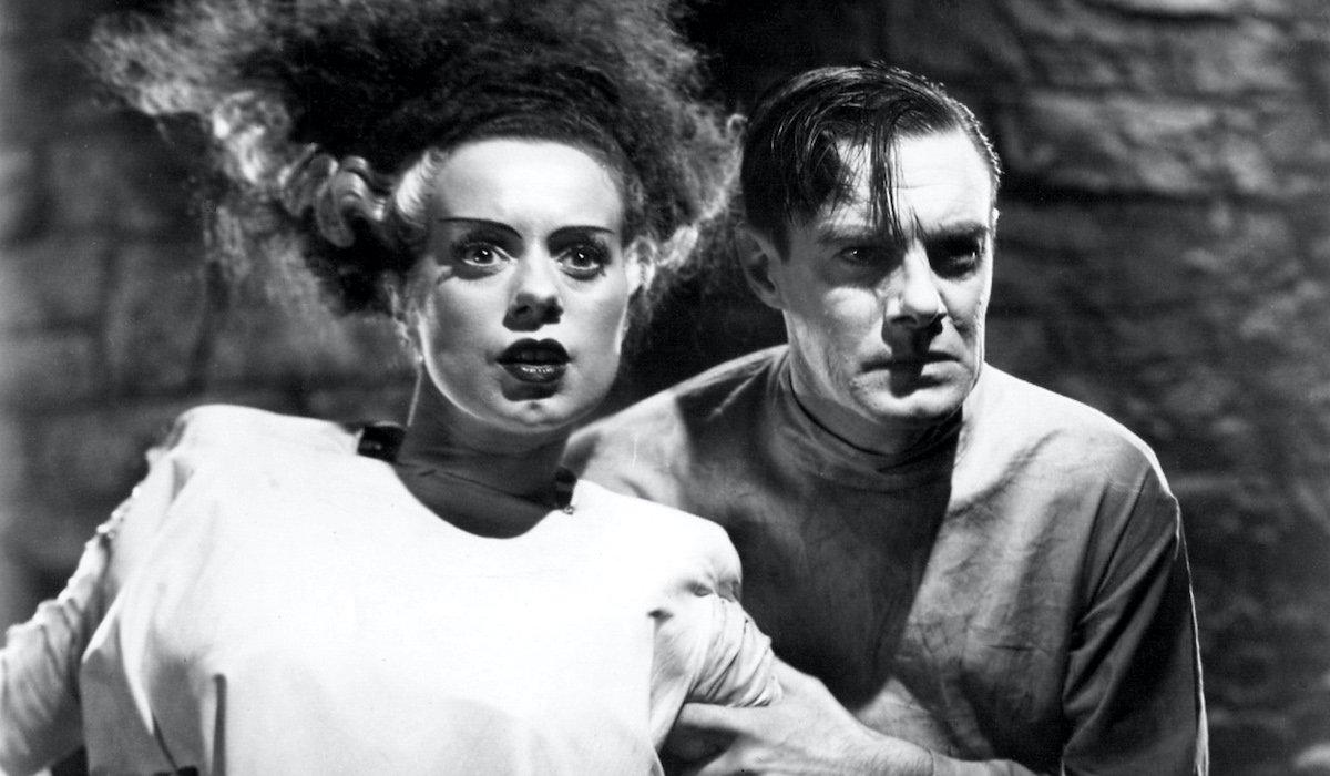 Elsa Lancaster and Colin Clive in Bride of Frankenstein