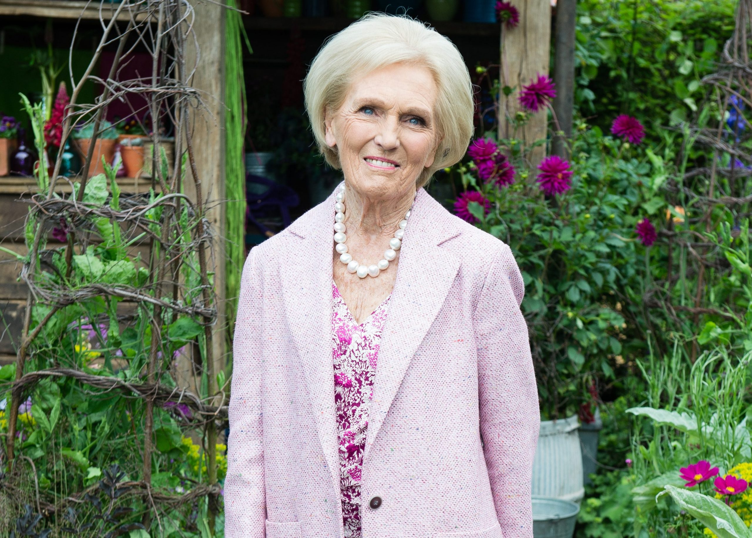 mary berry at the Chelsea Flower Show