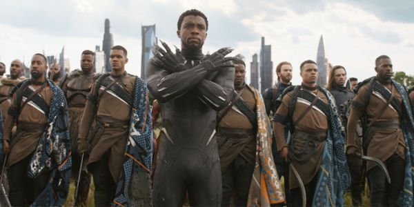 Black Panther S Chadwick Boseman Never Stops Getting Asked To Do The Wakanda Salute Cinemablend