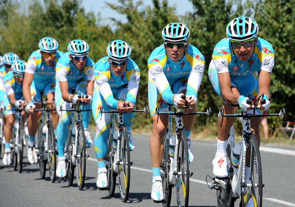 Astana, Tour de France 2011, team time trial training