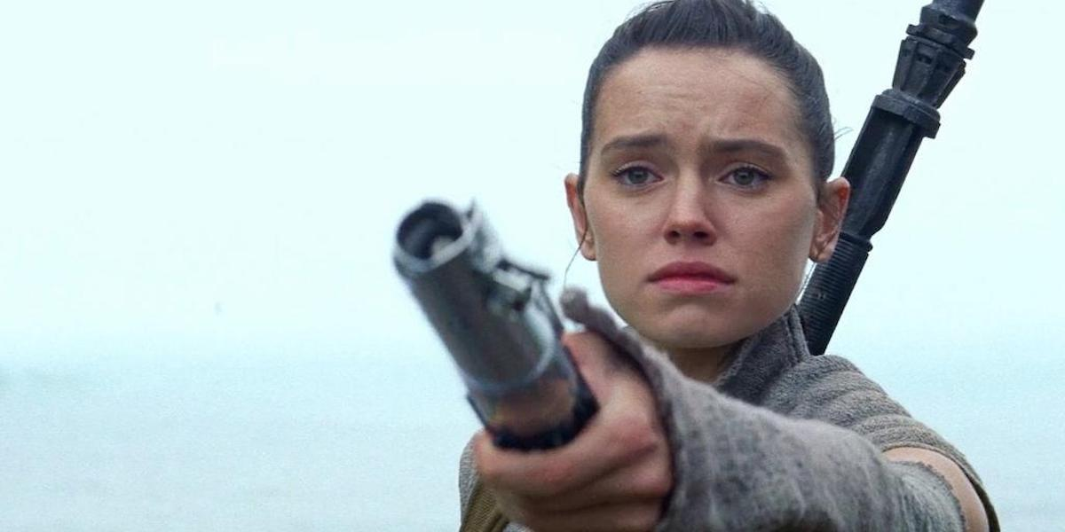 Daisy Ridley as Rey in Star Wars: Force Awakens