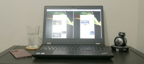Lenovo ThinkPad P15 on a desk