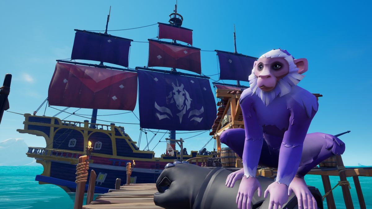 Adopt a purple monkey in Sea of Thieves with your Twitch Prime membership