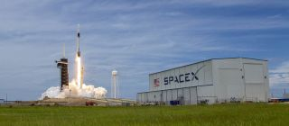 SpaceX's CRS-22 Dragon cargo ship launches NASA supplies to the International Space Station from the Kennedy Space Center in Cape Canaveral, Florida on June 2, 2021. A different Dragon will launch the CRS-23 mission on Aug. 28.