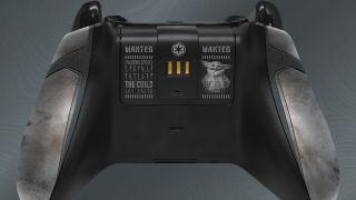 The Mandalorian Xbox controller rear view