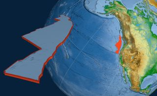 The Juan de Fuca tectonic plate runs along the western coast of the United States.