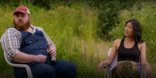 K. Trevor Wilson and Lily Gao in Letterkenny