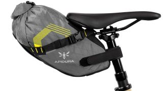 Apidura dropper post saddle bag