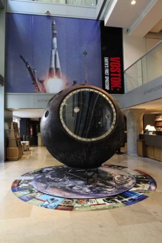 The Vostok 3KA-2 space capsule shown here was sold for nearly $2.9 million in a Sotheby's auction to Russian businessman Evgeny Yurchenko. The spacecraft flew in space in March 1961, 20 days before the historic April 12, 1961 launch of cosmonaut Yuri Gaga