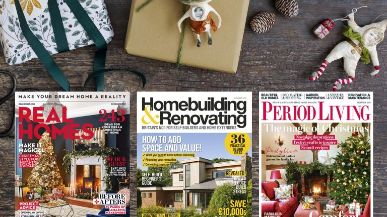 December 2019 covers of Real Homes, Period Living and Homebuilding & Renovating