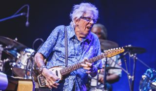 John Mayall performs on stage at Teatro Nuevo Apolo on October 08, 2019 in Madrid, Spain