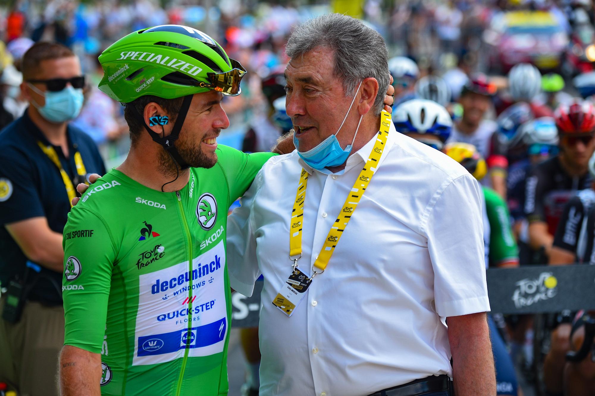 Tour de France 2021 - 108th Edition - 19th stage Mourenx - Libourne 207 km - 16/07/2021 - Mark Cavendish (GBR - Deceuninck - Quick-Step) - Eddy Merckx - photo Dario Belingheri/BettiniPhoto©2021