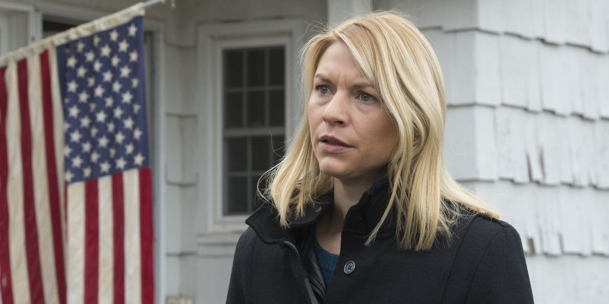 Claire Danes as Carrie in Homeland.