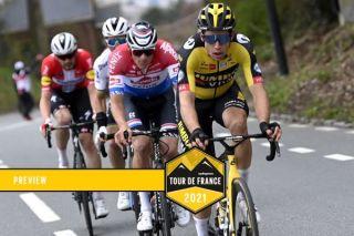 Ronde van Vlaanderen 2021 - Tour of Flanders - 105th Edition - Antwerp - Oudenaarde 263,7 km - 04/04/2021 - Wout Van Aert (BEL - Jumbo - Visma) - Mathieu Van Der Poel (NED - Alpecin-Fenix) - photo Nico Vereecken/PN/BettiniPhoto©2021