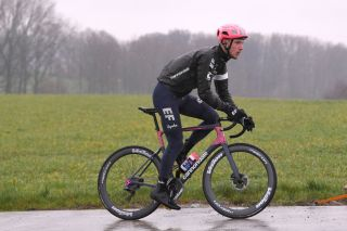 OUDENAARDE BELGIUM FEBRUARY 27 Jonas Rutsch of Germany and Team EF Education First during the 75th Omloop Het Nieuwsblad 2020 Team EF Pro Cycling recon route OHN2020 OHN20 efprocycling on February 27 2020 in Oudenaarde Belgium Photo by Luc ClaessenGetty Images