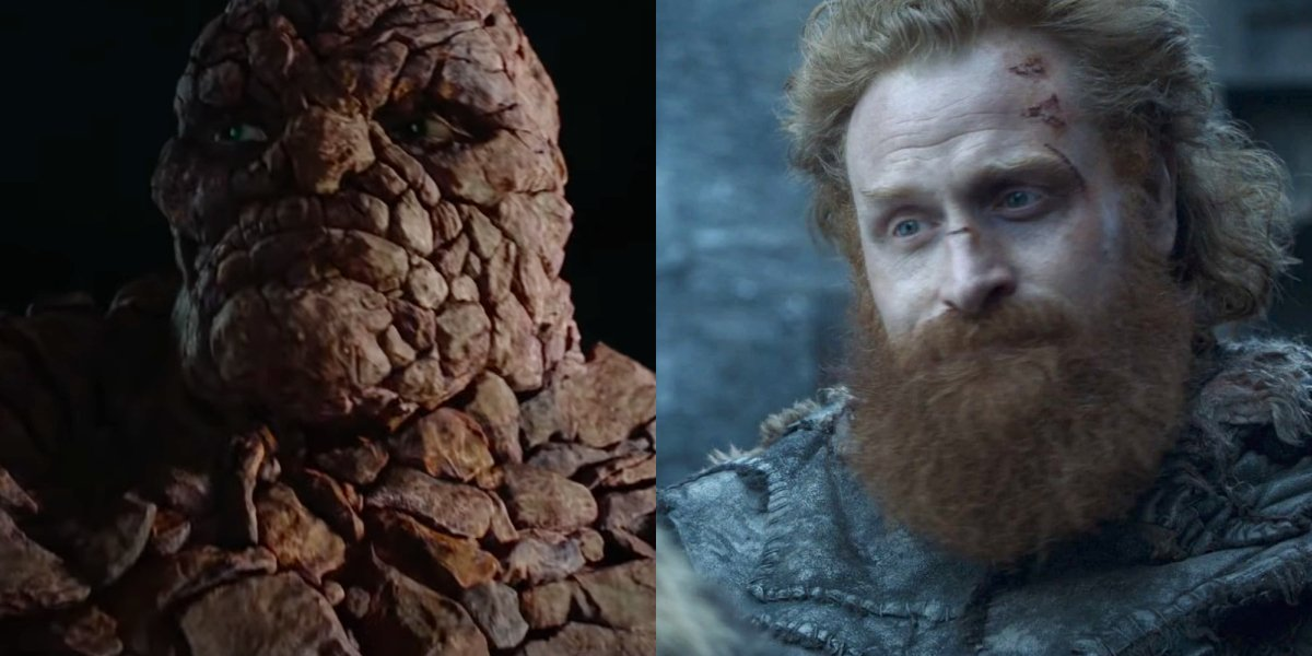 Jamie Bell in Fantastic Four and Kristofer Hivju in Game Of Thrones