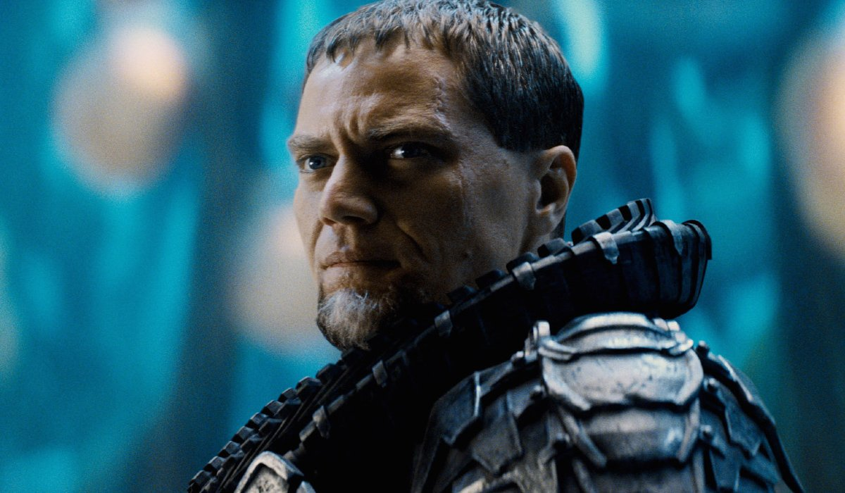 Man of Steel General Zod looking sternly as he stands