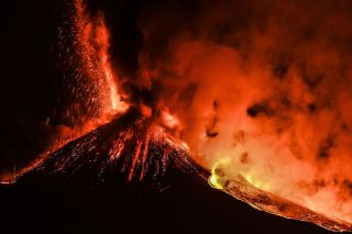 Mount Etna erupts in February, 2021